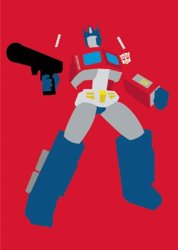 TRANSFORMERS - OPTIMUS PRIME MINIMAL canvas print - self adhesive poster - photo print